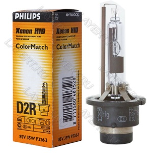 Автолампа ксеноновая D2R(35) P32d-3 Xenon Color Match 7000K 85V Philips 85126CM