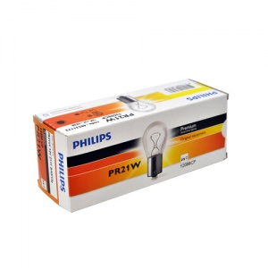 Автолампа PR21W (BAW15s) RED 12V Philips