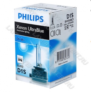 Автолампа ксеноновая D1S(35) PK32d-2 Xenon Ultra Blue 6000K 85V Philips 85410UB