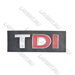 "Эмблема ""TDI"" CHROM RED 80*30мм"